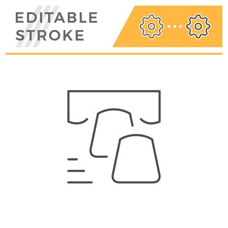 Dental veneer editable stroke line icon Illustration