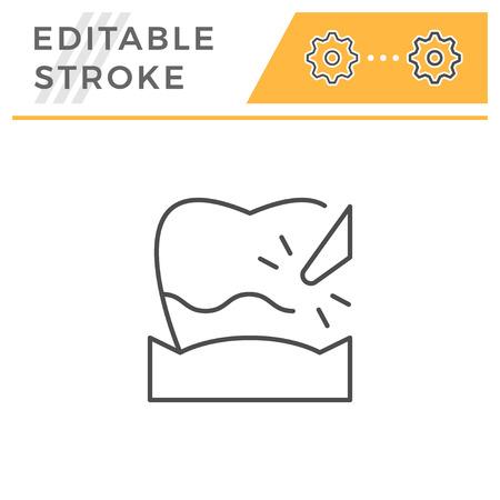 Plague removal editable stroke line icon Illustration