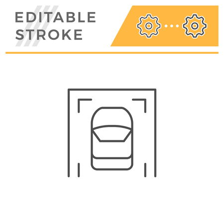 Parking editable stroke line icon
