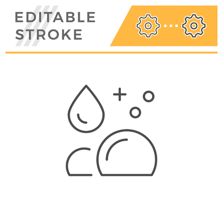 Cleaning editable stroke line icon