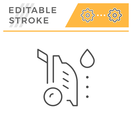 High pressure washer editable stroke line icon