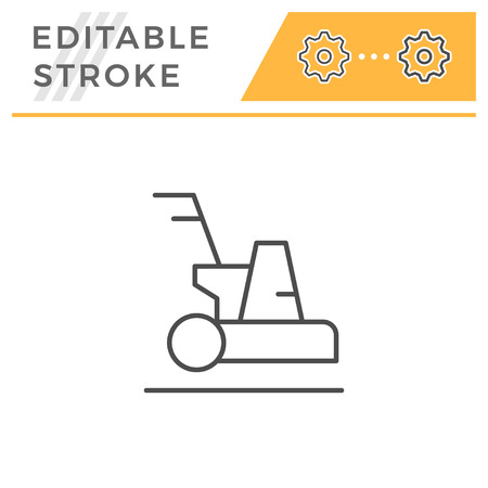 Cleaning machine editable stroke line icon
