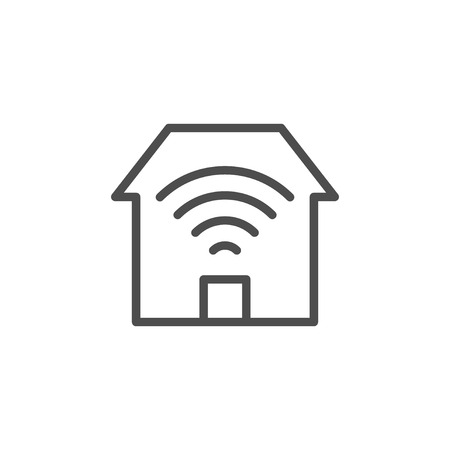 Home Wi-Fi line outline icon