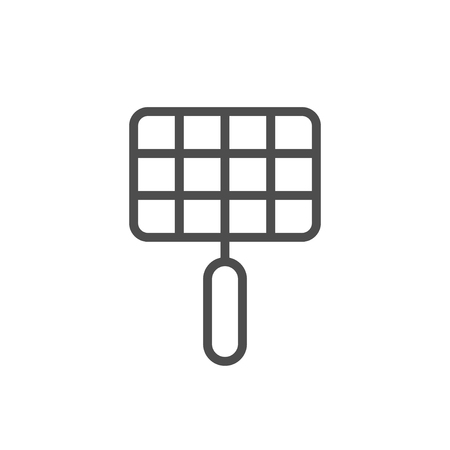 Grill grate line outline icon isolated on white. Vector illustration Standard-Bild - 123864556