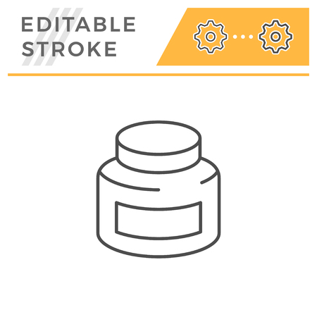 Jar editable stroke line icon