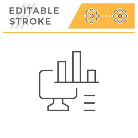 Computer analytics editable stroke line icon