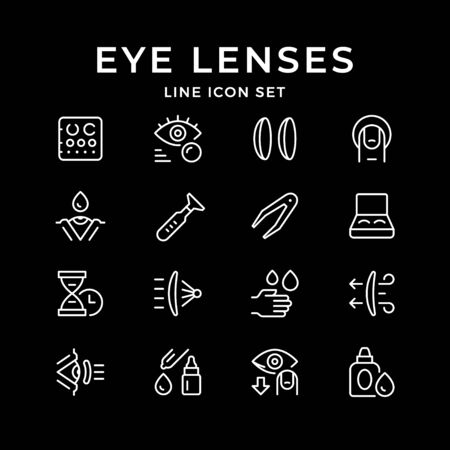 Set line icons of contact lenses Archivio Fotografico - 127204010