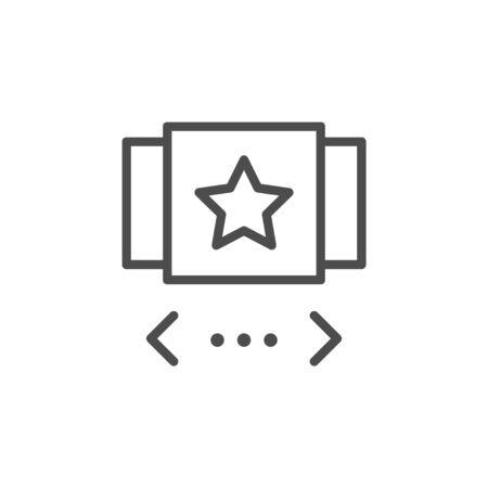 Image gallery slider line outline icon isolated on white. Vector illustration Stock Illustratie