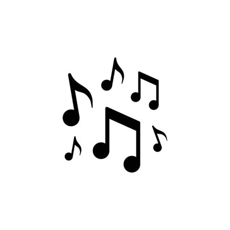 Music notes icon and music concept