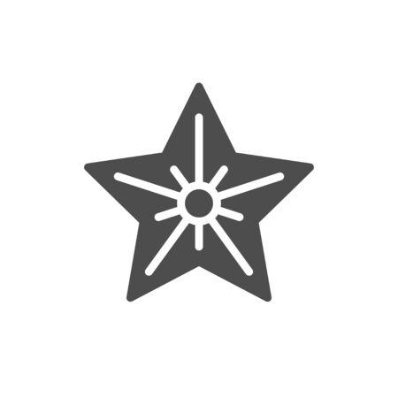 Star icon. Simple symbol concept