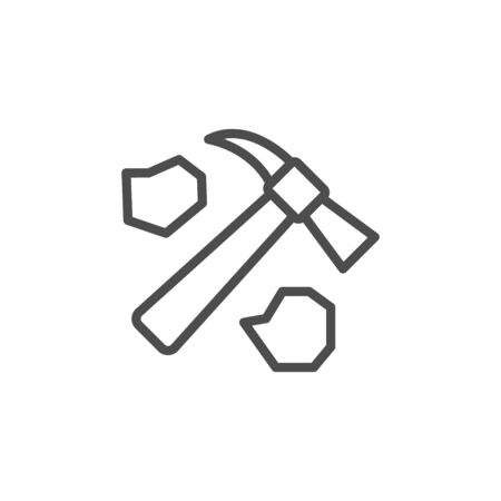 Mining industry line outline icon