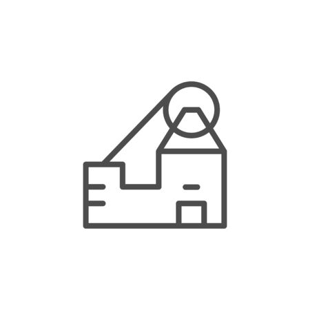 Mine line icon and mining concept Stock Illustratie