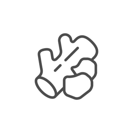 Charcoal and wood line outline icon