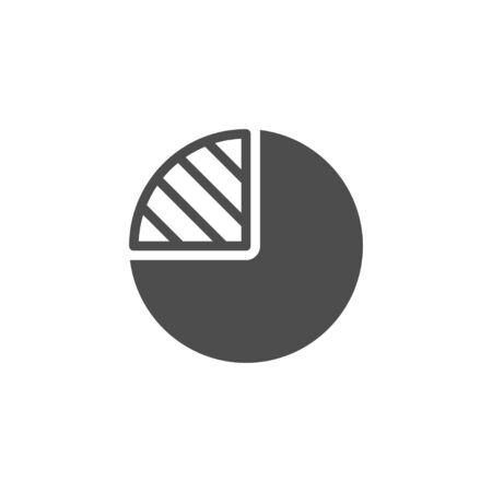 Pie chart icon and infographic concept Stock Illustratie