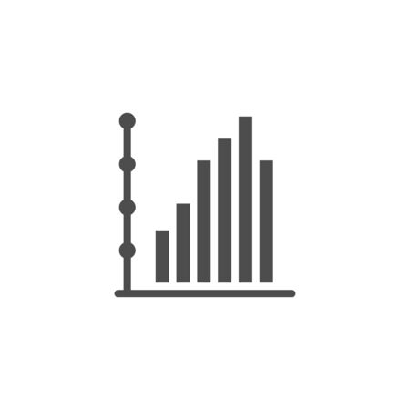 Column chart icon and infographic concept