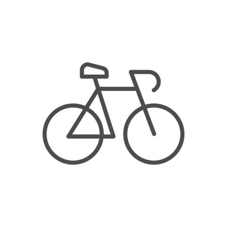 Bicycle or bike line outline icon Stock Illustratie