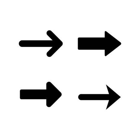 Set modern icons of arrow isolated on white. Vector illustration Stock Illustratie
