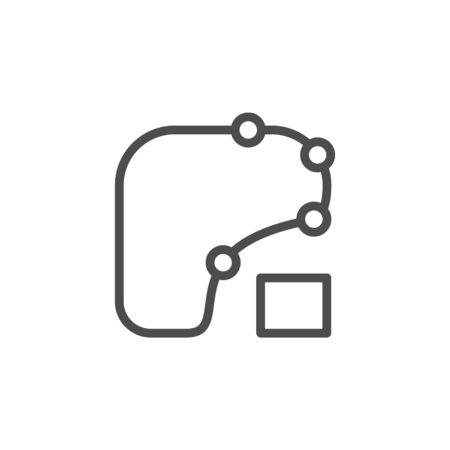 Racing scheme line outline icon