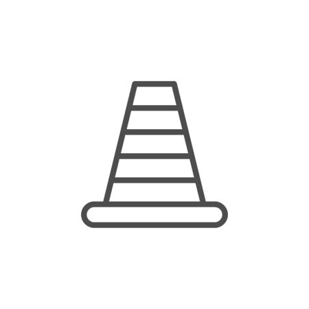 Traffic cone line outline icon
