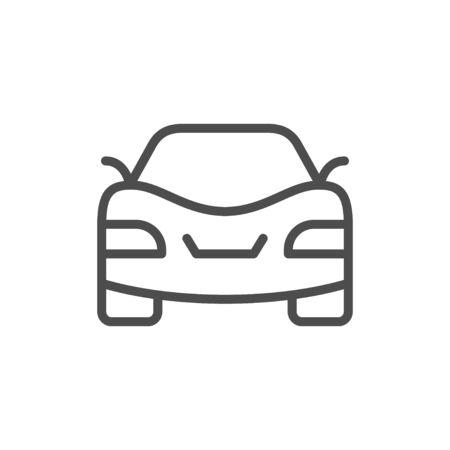 Car line icon and auto concept