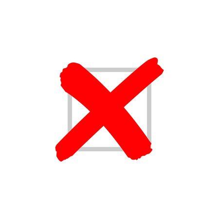 Cross sign or x mark icon. No symbol