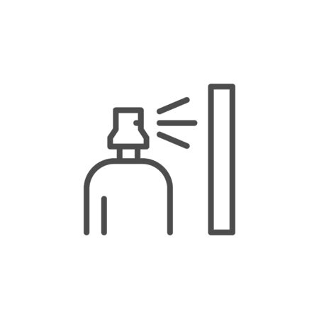 Spray can and gas bottle line outline icon