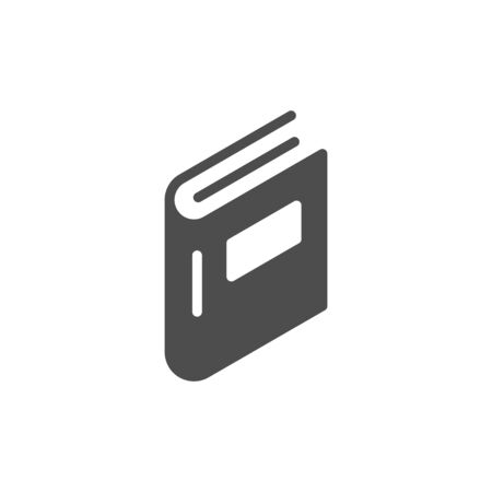 Book glyph icon and education concept