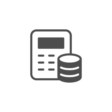 Financial calculation and accounting icon Zdjęcie Seryjne - 132556507