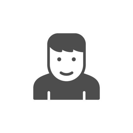 Person glyph icon and user symbol