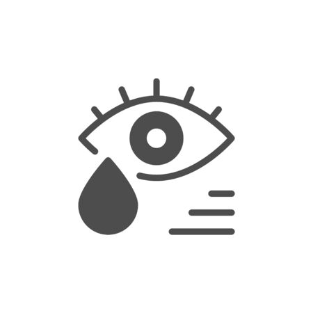 Tears glyph icon crying symbol isolated on white. Vector illustration Illustration