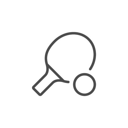 table tennis inventory line outline icon