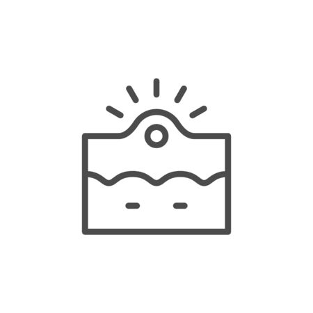 Acne inflammation line outline icon