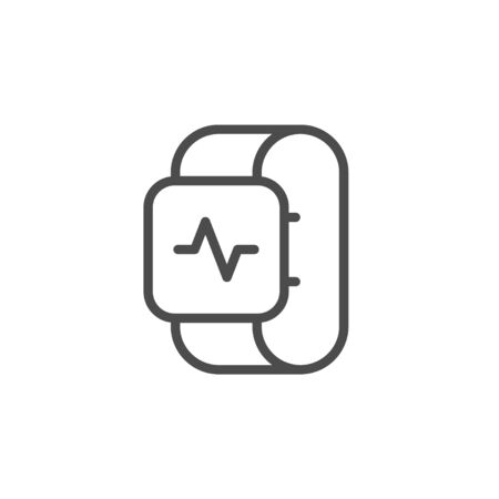Health tracker line outline icon