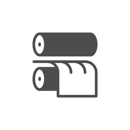 Rulli di stampa e icona di stampa industriale