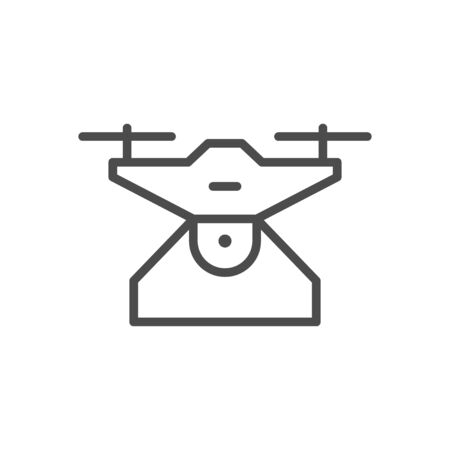 Drone device line outline icon