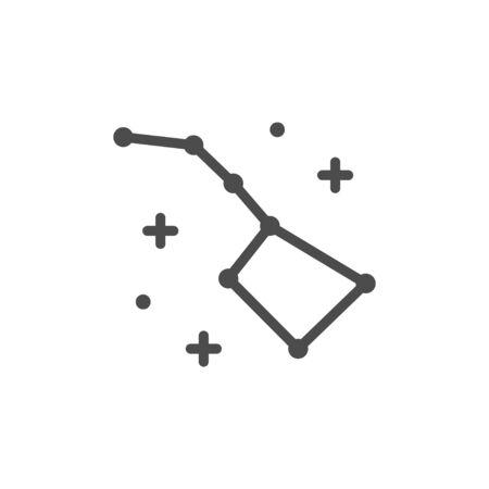 Ursa Major line outline icon Banque d'images - 134692837