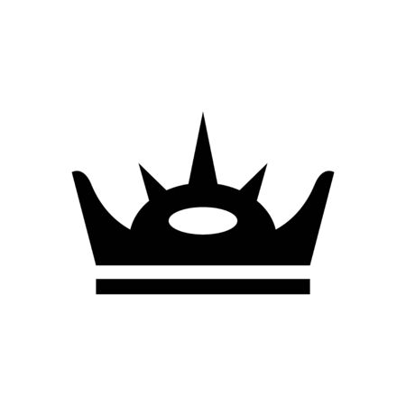 Royal crown and power symbol glyph icon