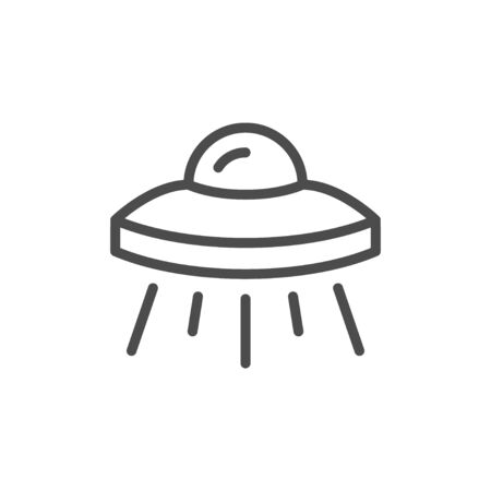 UFO object line outline icon