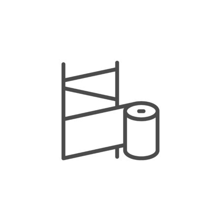 Orthopedic bandage line outline icon isolated on white. Medicine equipment for treatment and rehabilitation of fracture and injury. Rehab splint. Vector illustration