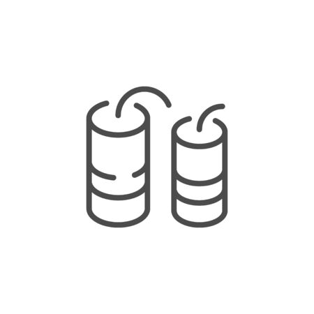 Fireworks fountain line outline icon