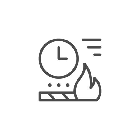 Time fireworks charge line outline icon