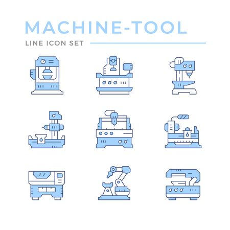 Set color line icons of machine tool