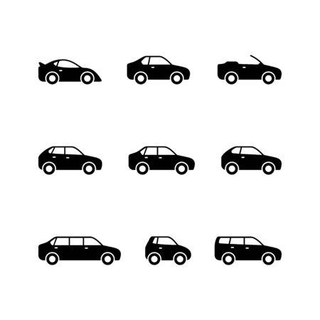 Set glyph icons of car Zdjęcie Seryjne - 137227152