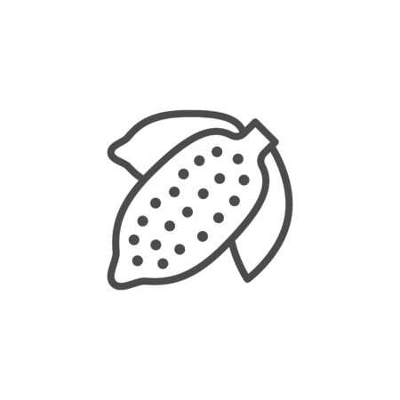 Cacao bean line outline icon