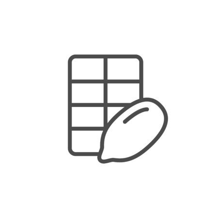 Cocoa chocolate line outline icon