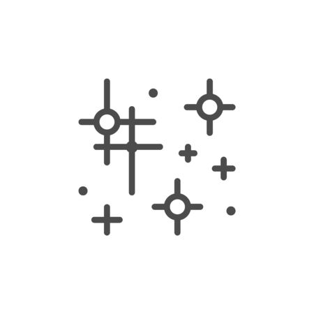 Sparkling and twinkling line outline icon