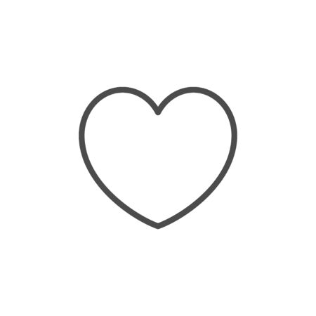 Heart line outline icon and romance element isolated on white. Valentine day simple sign. Passion, emotion, amour symbol. Vector illustration