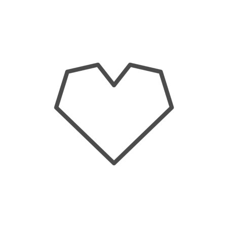Heart line outline icon and romance element
