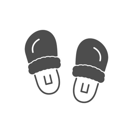 Slippers or home footwear icon isolated on white. Vector illustration Illusztráció