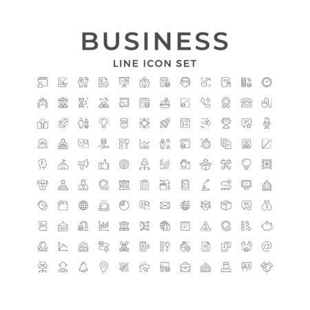 Définir des icônes de ligne d'entreprise
